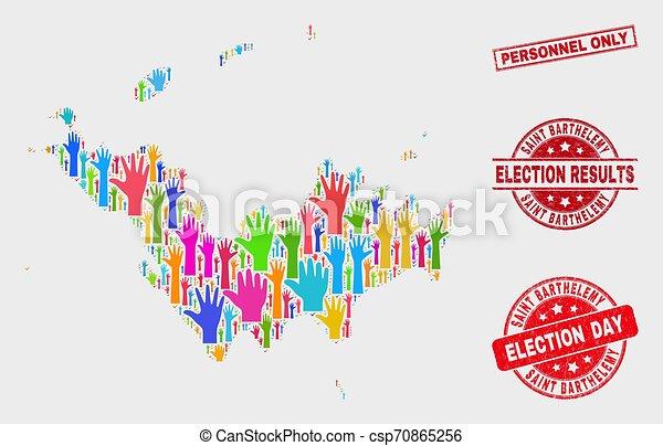 Composición de voto santo mapa barémico y personal grunge sólo sello - csp70865256