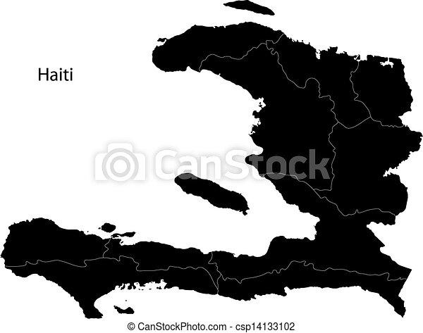 Mapa haiti negra - csp14133102