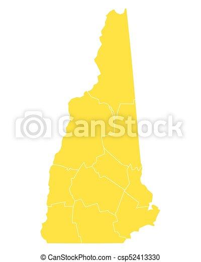mapa, hampshire, nuevo - csp52413330