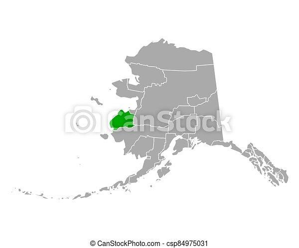 mapa, hampton, vadear, alaska - csp84975031
