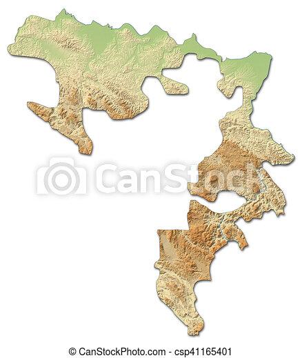 Mapa De Alivio Republika Srpska Bosnia Y Herzegovina 3d