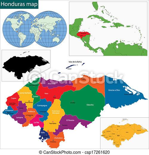 mapa, honduras - csp17261620
