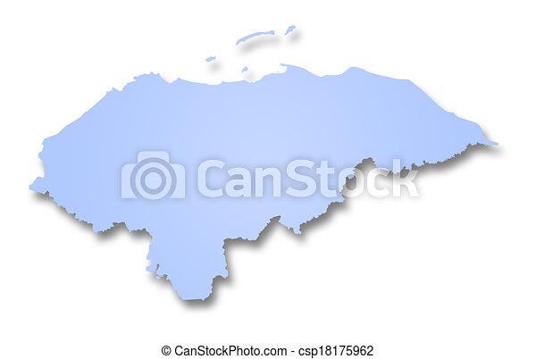 mapa, honduras - csp18175962