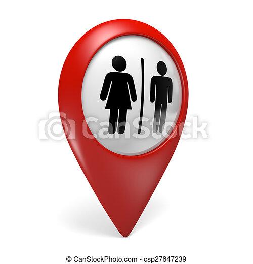 Indicadores Banos.Mapa Icono Indicador 3d Banos