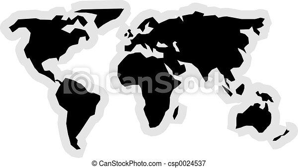 mapa, icono - csp0024537