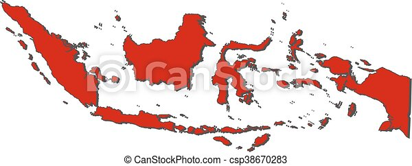 Mapa - indonesia - csp38670283