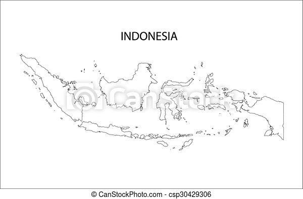 El esquema del mapa de Indonesia - csp30429306