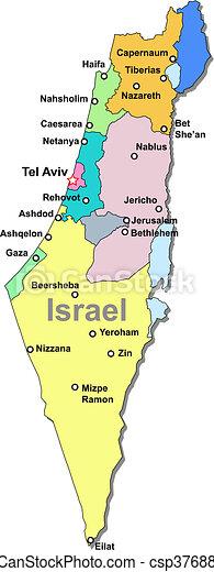 mapa, israel - csp3768869