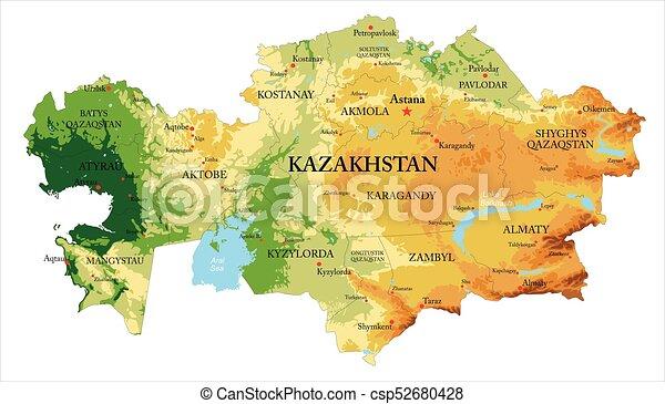 El mapa de ayuda de Kazajstán - csp52680428