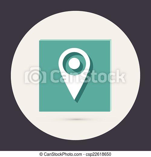mapa, localização, alfinete - csp22618650
