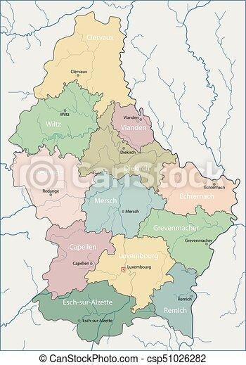 Mapa Luksemburg Europa Kraj Otoczony Ladem Western Luksemburg