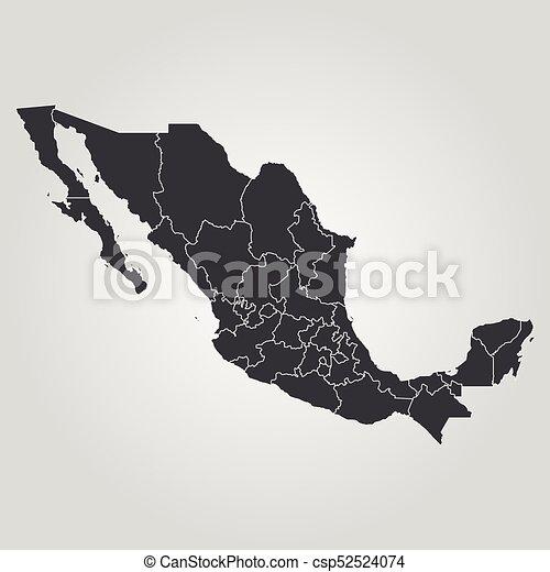 mapa, méxico - csp52524074