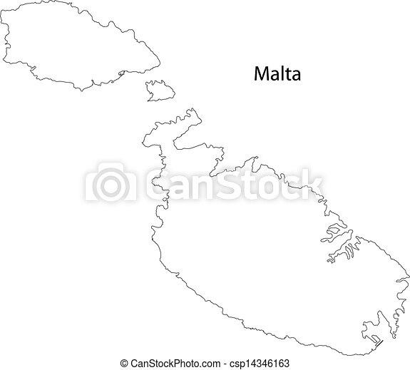 mapa, malta - csp14346163