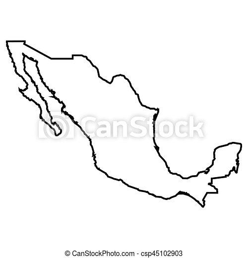 Mapa Mexicano Aislado Mapa Vector Mexicano Aislado