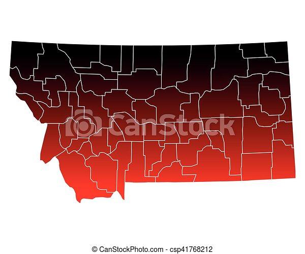Mapa de Montana - csp41768212