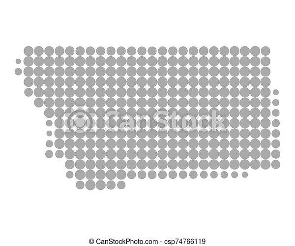 mapa, montana - csp74766119