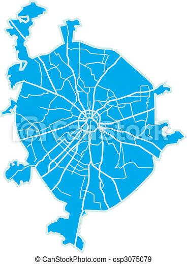 El mapa de Moscú - csp3075079