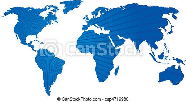 mapa mundial - csp4719980