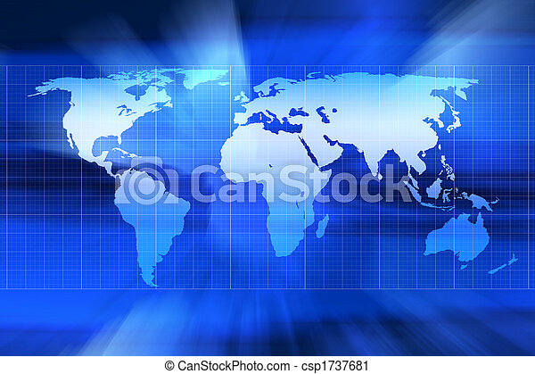 mapa mundial - csp1737681