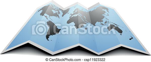 mapa mundial - csp11923322