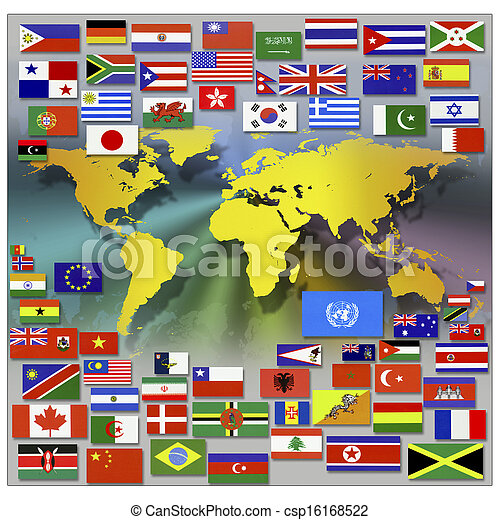 mapa, mundo - csp16168522