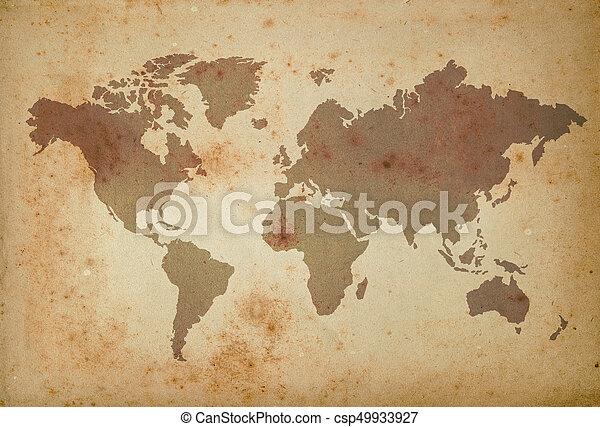 mapa, mundo - csp49933927