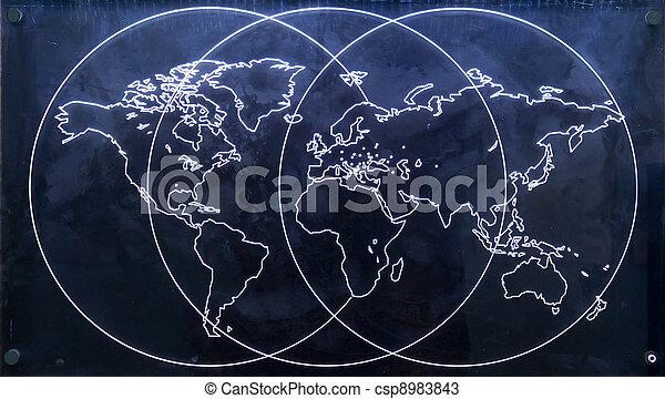 mapa, mundo - csp8983843