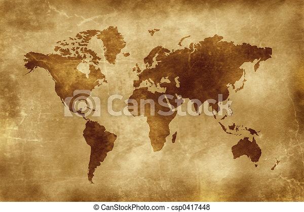 mapa, mundo - csp0417448