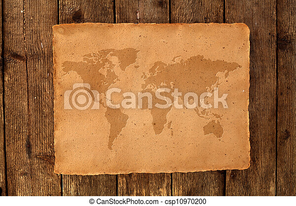 mapa, mundo - csp10970200