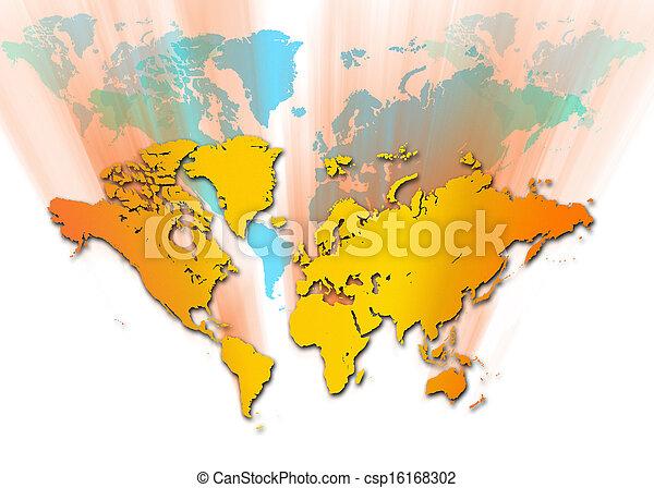 mapa, mundo - csp16168302