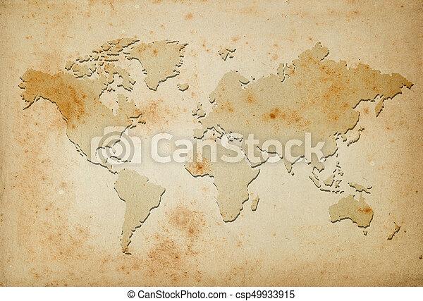 mapa, mundo - csp49933915