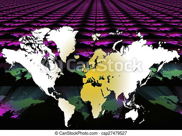 Mapa del mundo, fondo digital - csp27479527