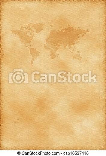 mapa, mundo velho - csp16537418