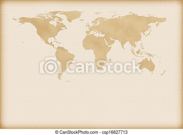 mapa, mundo velho - csp16627713