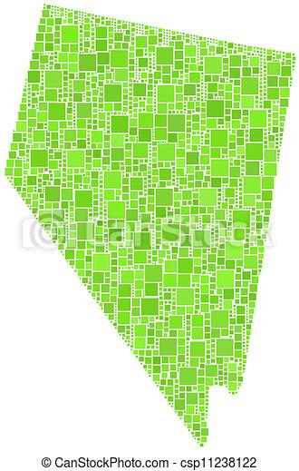 Mapa De Nevada Usa Mapa De Nevada Estados Unidos En Un Mosaico De Cuadrados