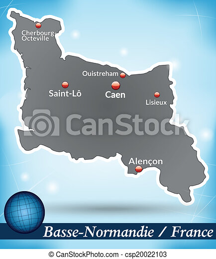 mapa, niższy, normandy - csp20022103