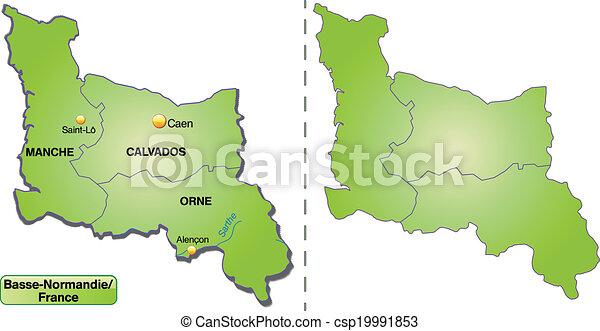 mapa, niższy, normandy - csp19991853