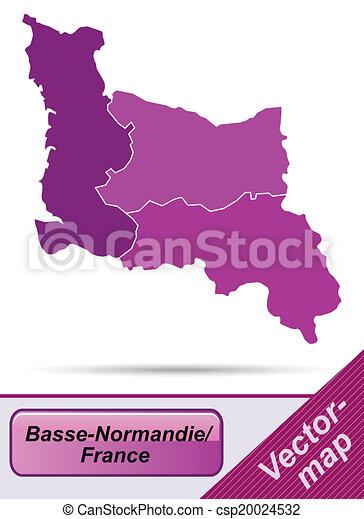 mapa, niższy, normandy - csp20024532