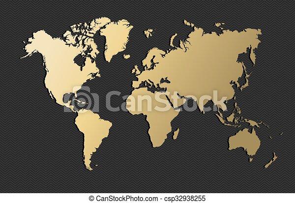 Mapa Del Mundo Vacio.Mapa Oro Globo Tierra Blanco Mundo Vacio Mapa