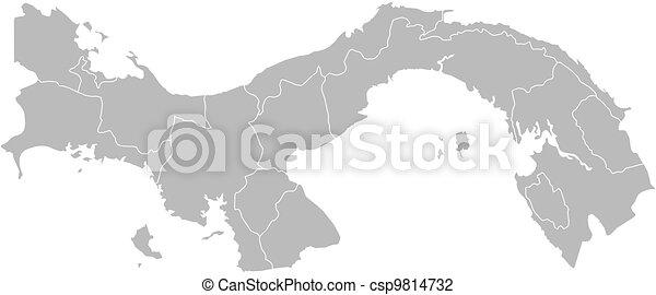 mapa, panamá - csp9814732