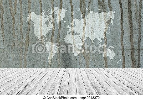 Mapa Pared Textura De Madera Plano De Fondo Terraza