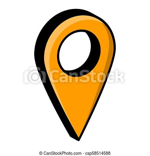 mapa patilla, aislado, vector, diseño, ubicación, blanco - csp58514588