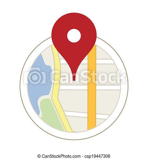 Mapa con un alfiler - csp19447306