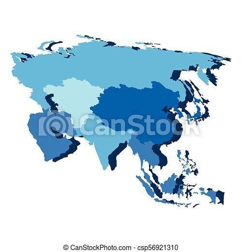 Mapa política de Asia - csp56921310