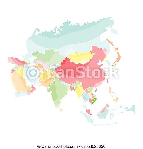 Mapa política de Asia - csp53023656
