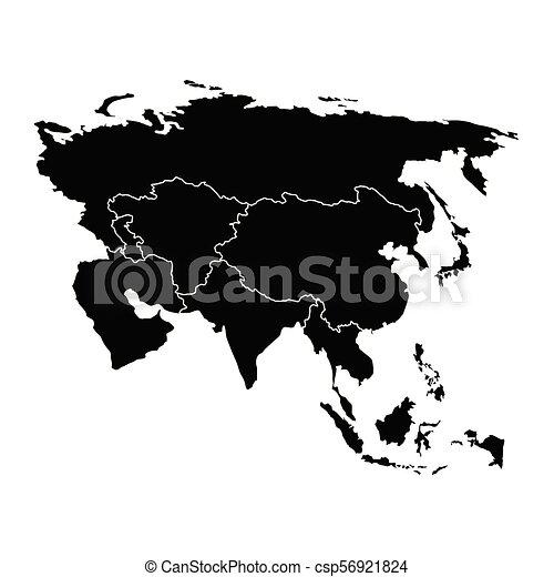 Mapa política de Asia - csp56921824