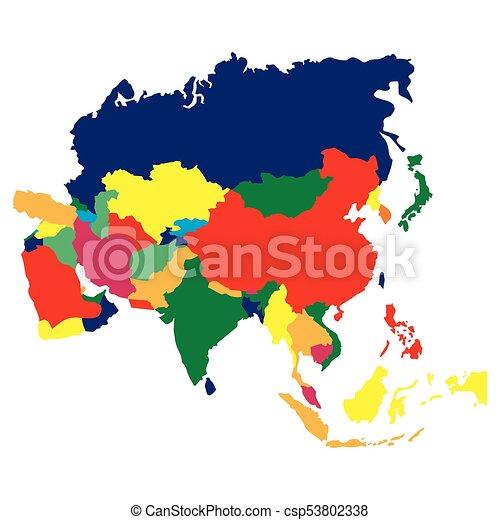 Mapa política de Asia - csp53802338