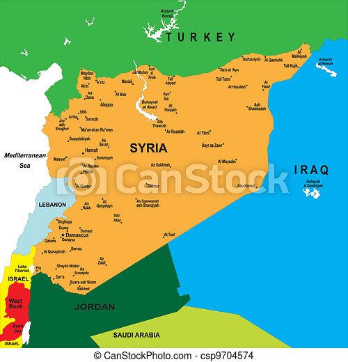 Mapa política de Siria - csp9704574