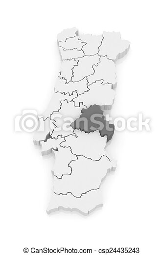 Mapa Portalegre Portugal 3d