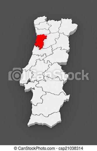 Mapa Portugal Aveiro Mapa Aveiro Portugal 3d